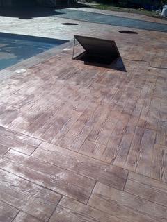 efecto madera de piscina