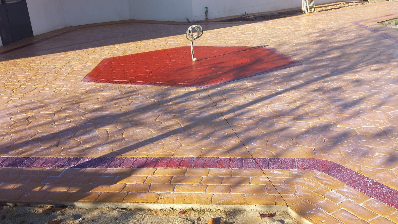 centro de patio exterior