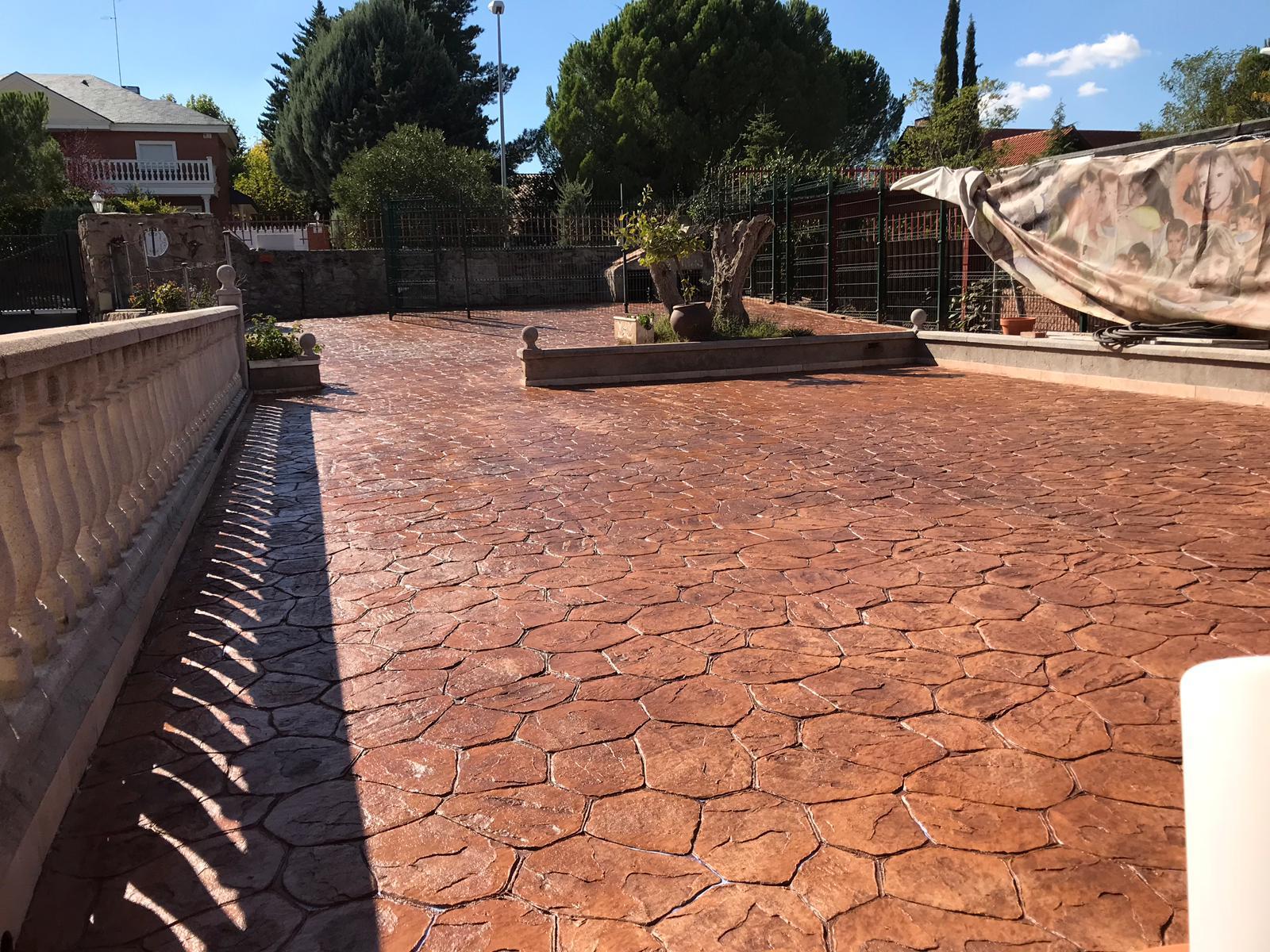 efecto piedra para pavimento